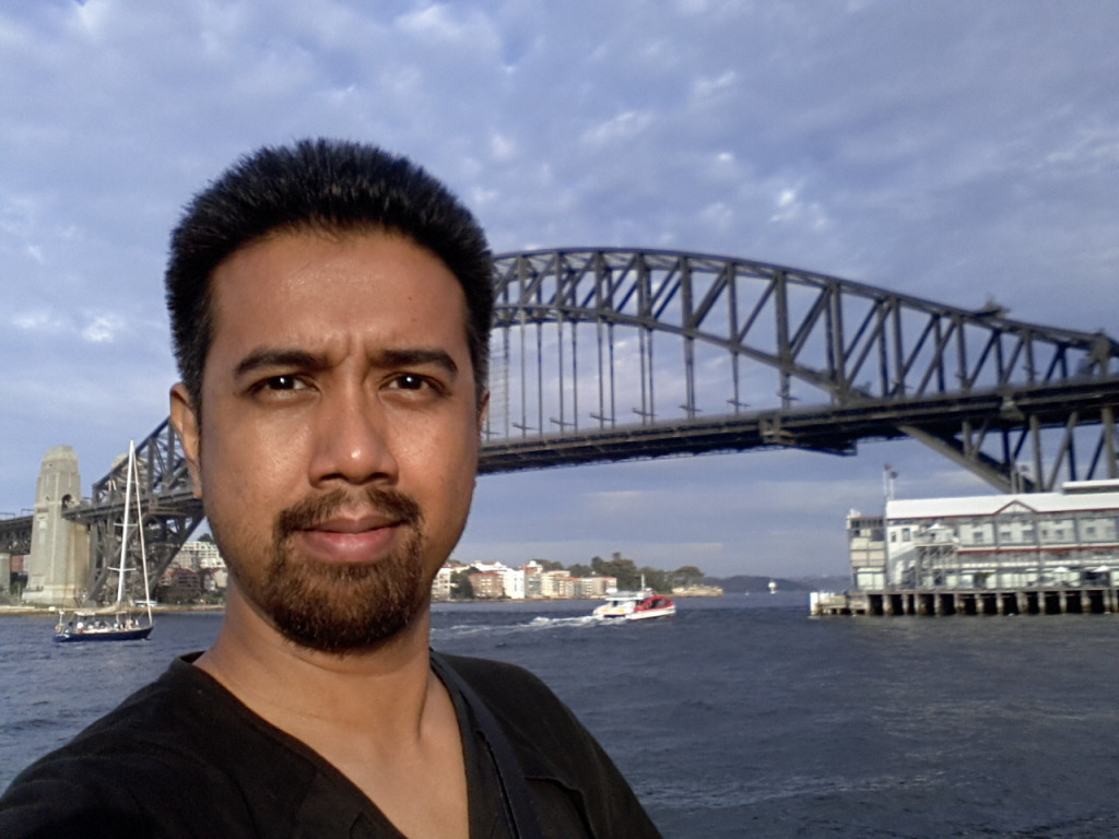 That's me during a family trip to Sydney, Australia